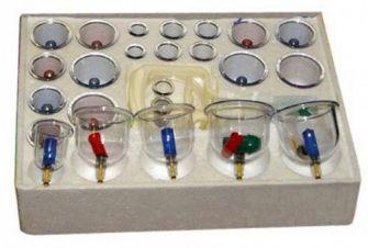 Массажные (вакуумные) банки с магнитами Doctorra (24 штуки)