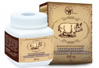 Нутряной свиной жир (бальзам для тела)
