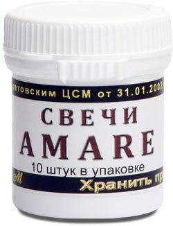 Свечи ректальные с маслом Амаранта